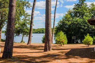 camping mimizan lac