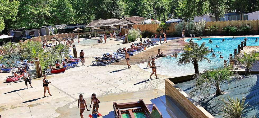 camping lac piscine
