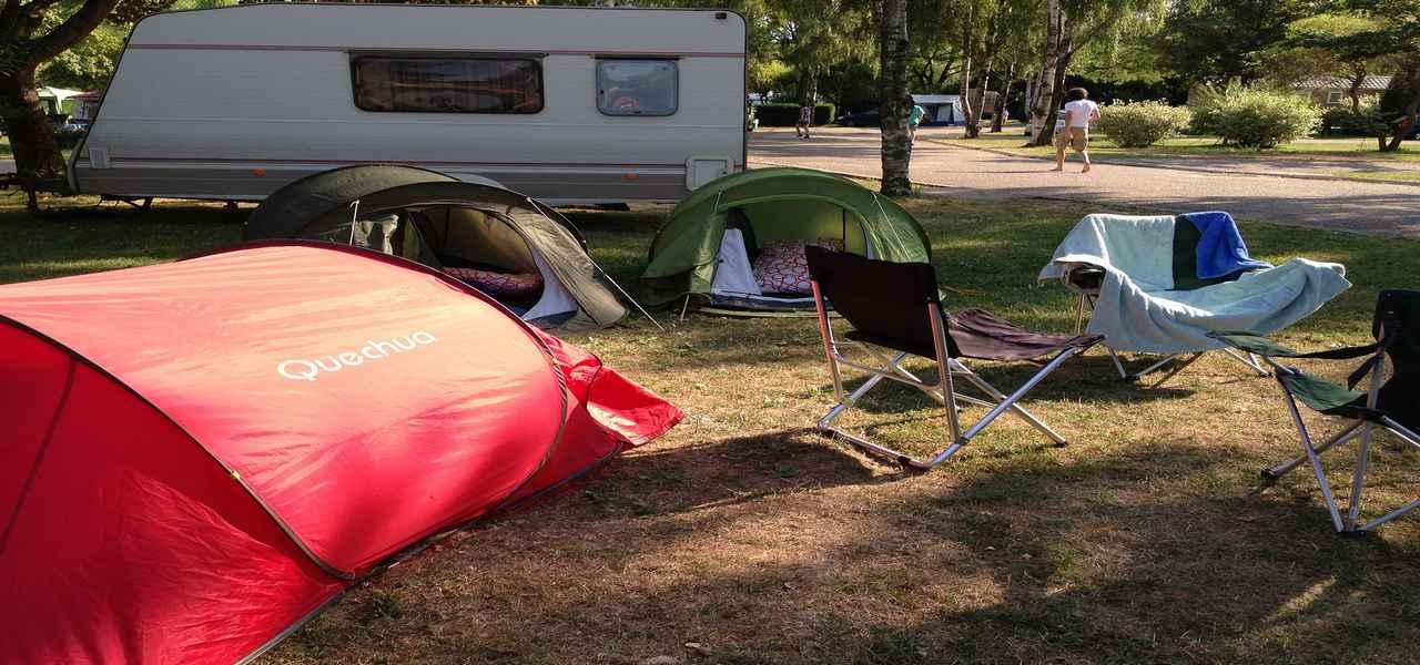 Mobil home en camping